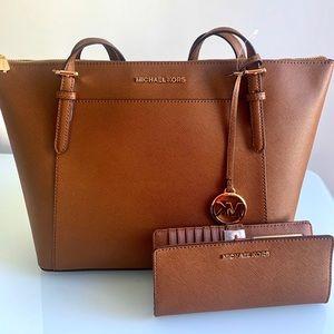MK bag and wallet